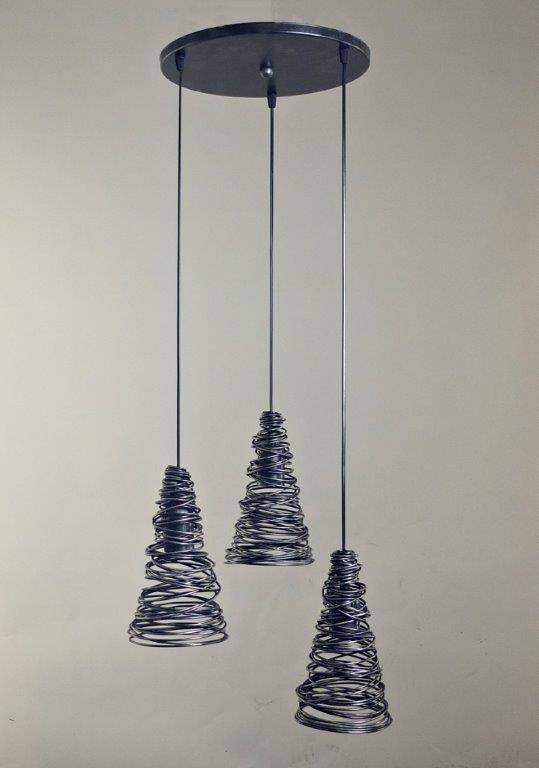 NIDO Hanglamp E27 3x Rond Zwart