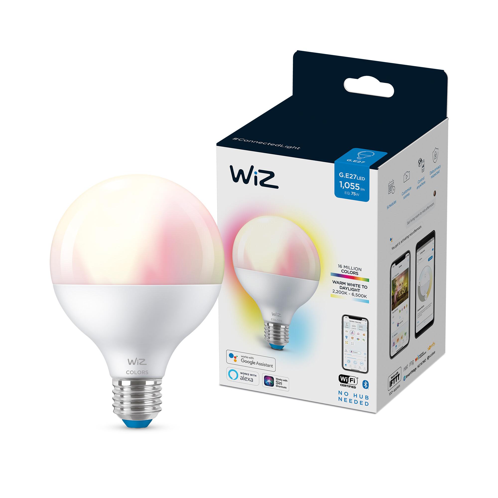 WiZ E27 75W 1055lm 2200K-6500K Globe Frosted