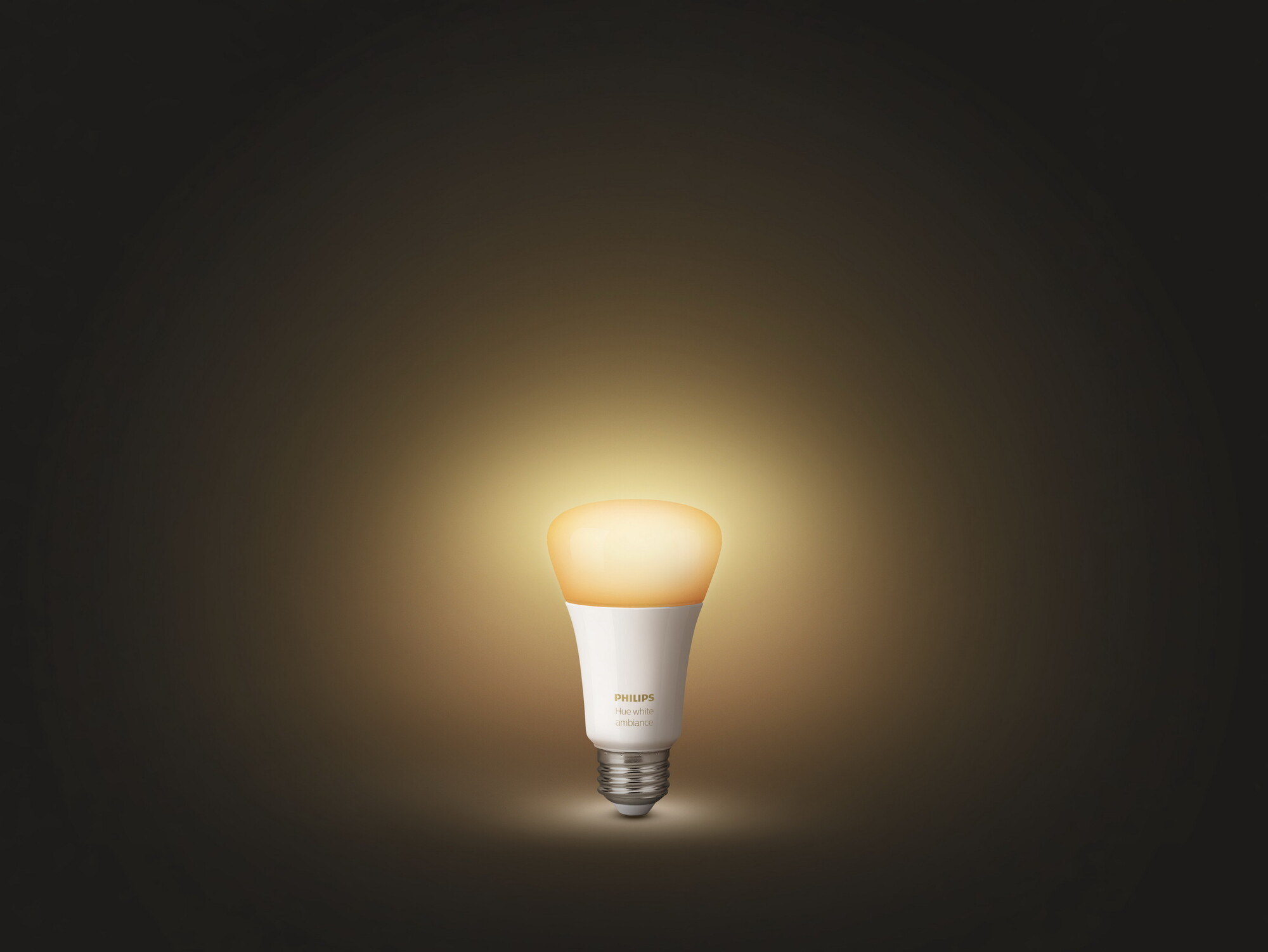 Philips HUE White ambiance E27 8,5W 806lm 2200K-6500K Lamp Frosted