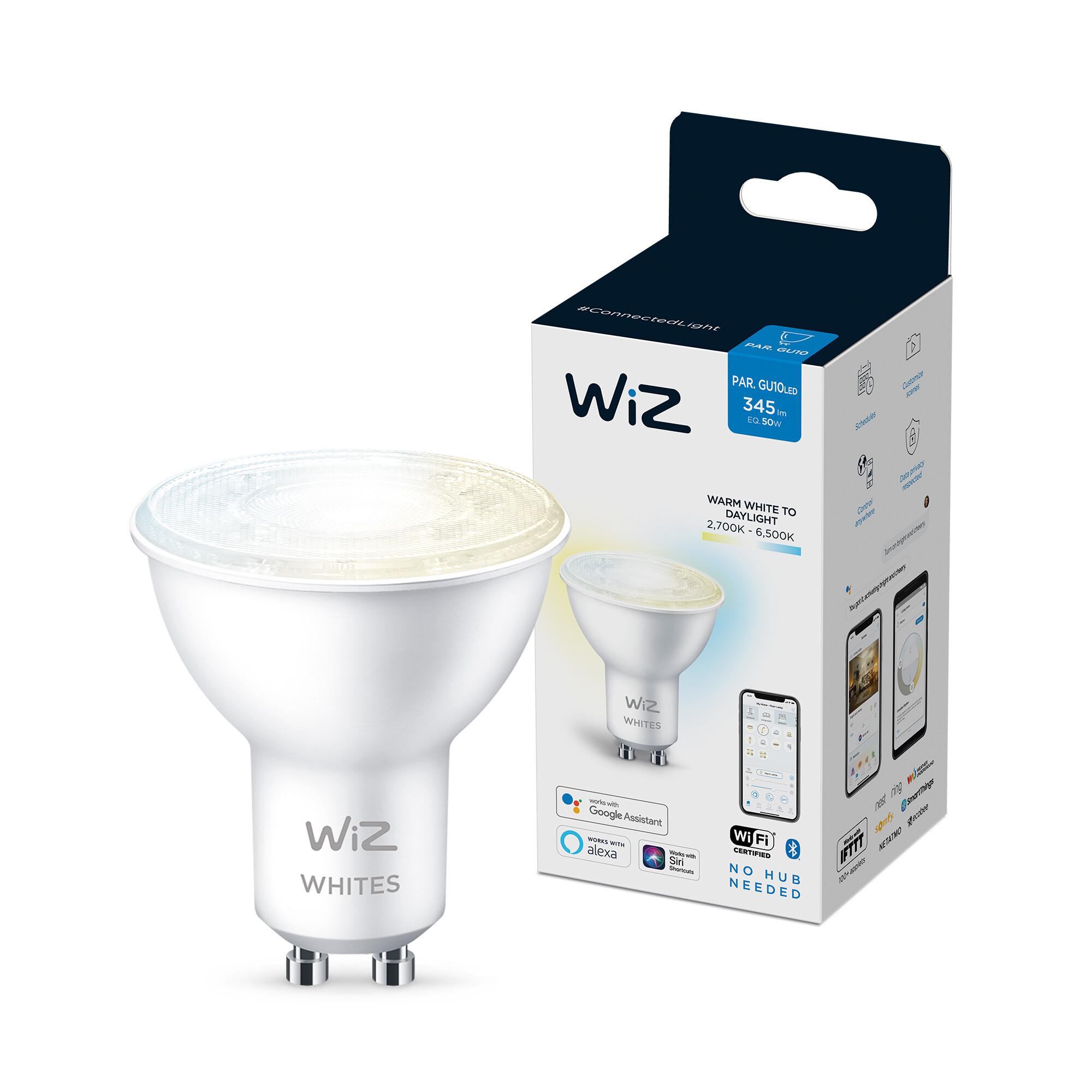WiZ GU10 50W 400lm 2700K Spot Transparant