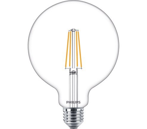 Philips LED E27 8W 806lm 2700K Globe Transparant