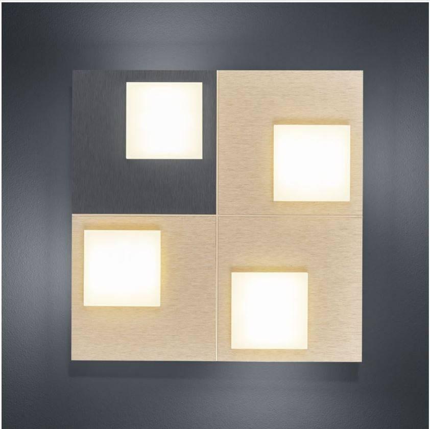 CUBE Plafondlamp LED 4x 400lm Antraciet