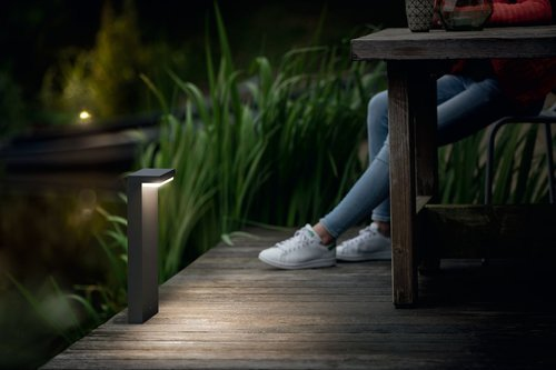 Philips BUSTAN Tuinpaal LED 2x5W/500lm Antraciet