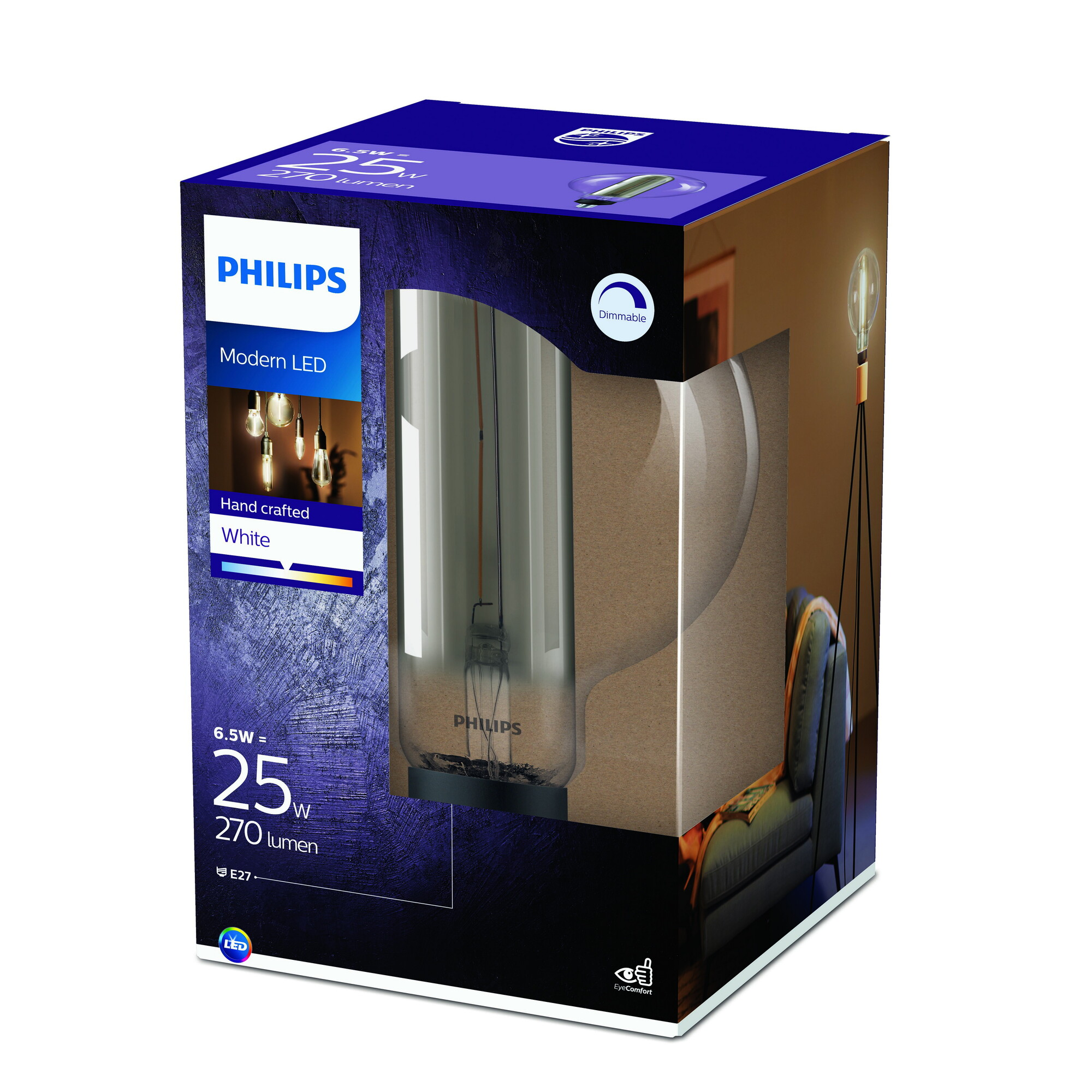 Philips LED E27 25W 270lm 3000K Gefumeerde coating