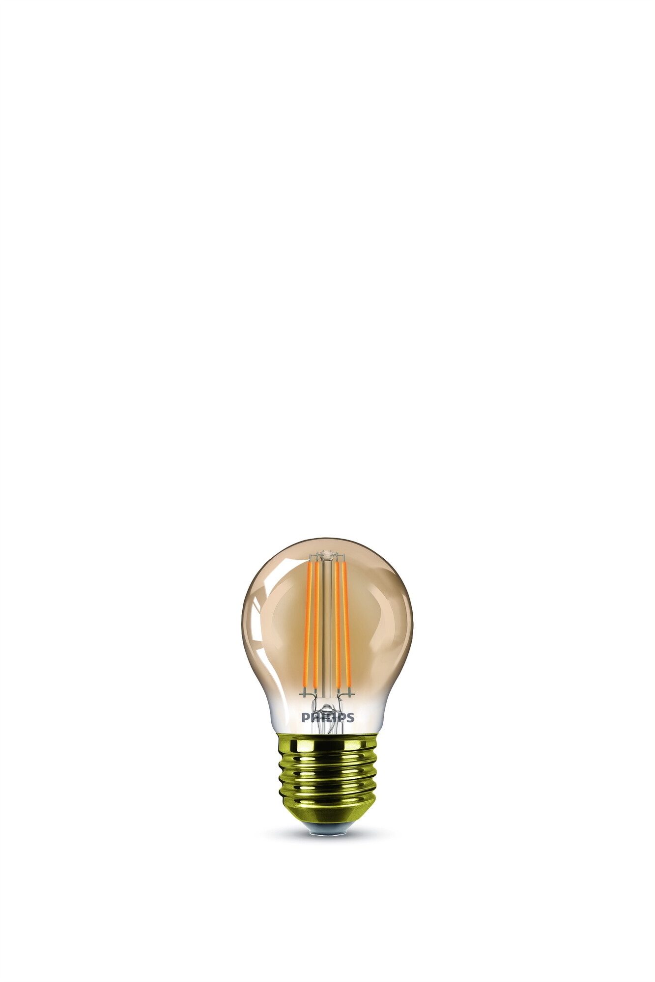 Philips LED classic E27 5W 350lm 2200K Gouden coating