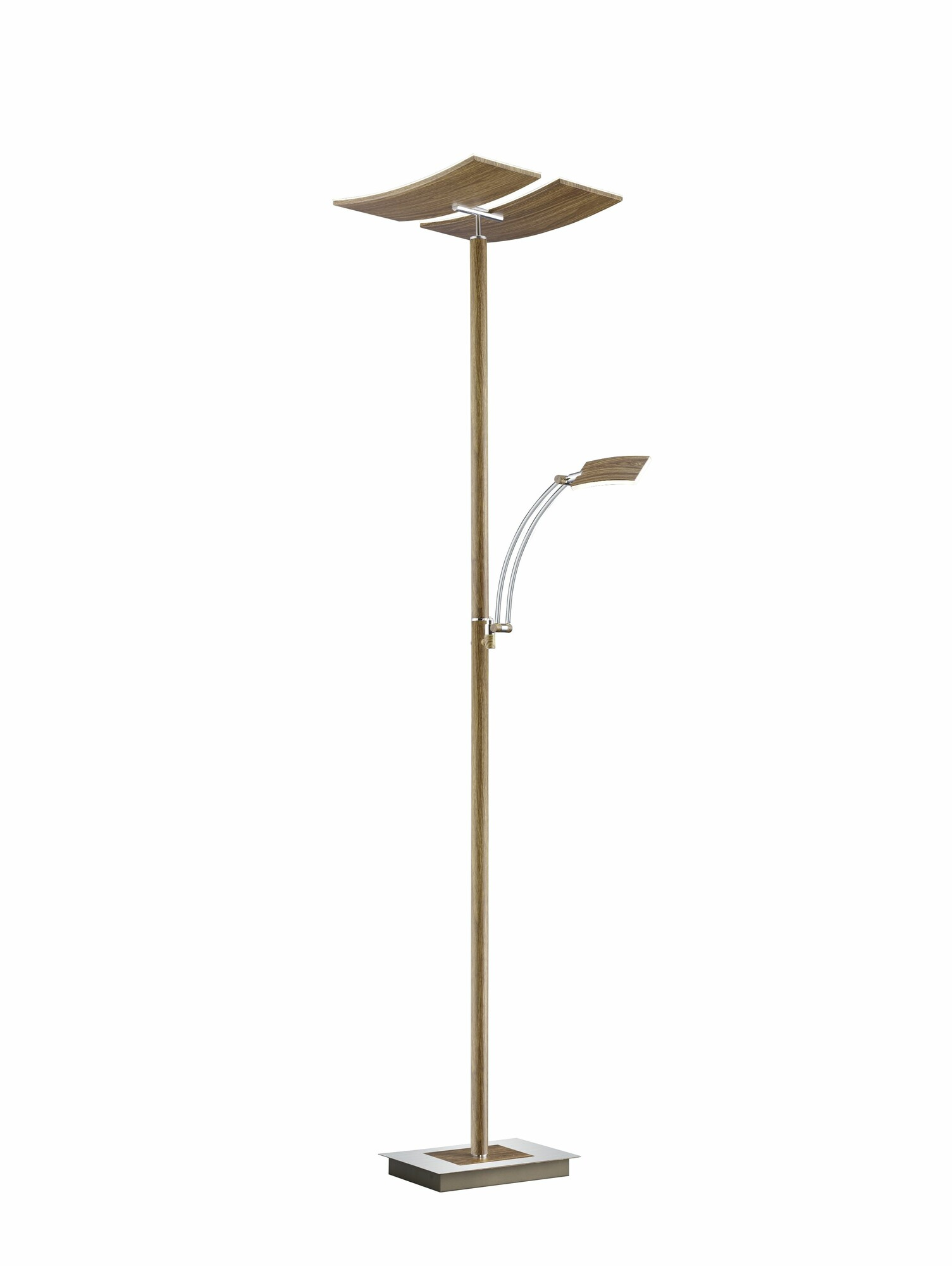 DUO Lampadaire LED 2x30W/3000lm Marron