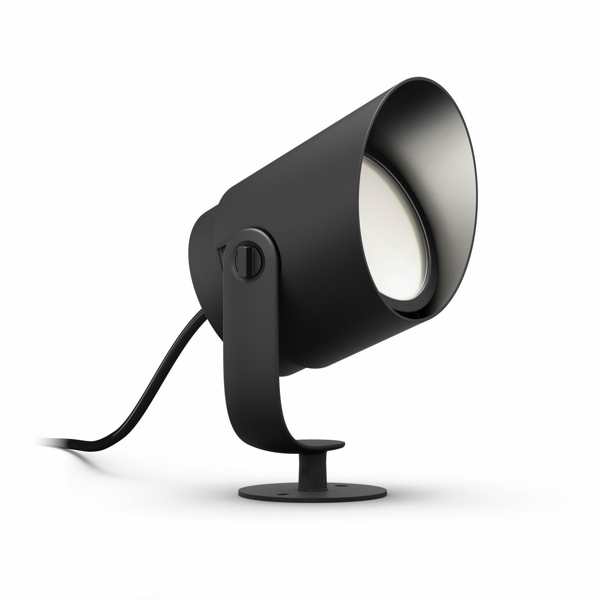 Philips HUE LILY Grondspot LED 1x15W/1050lm Zwart