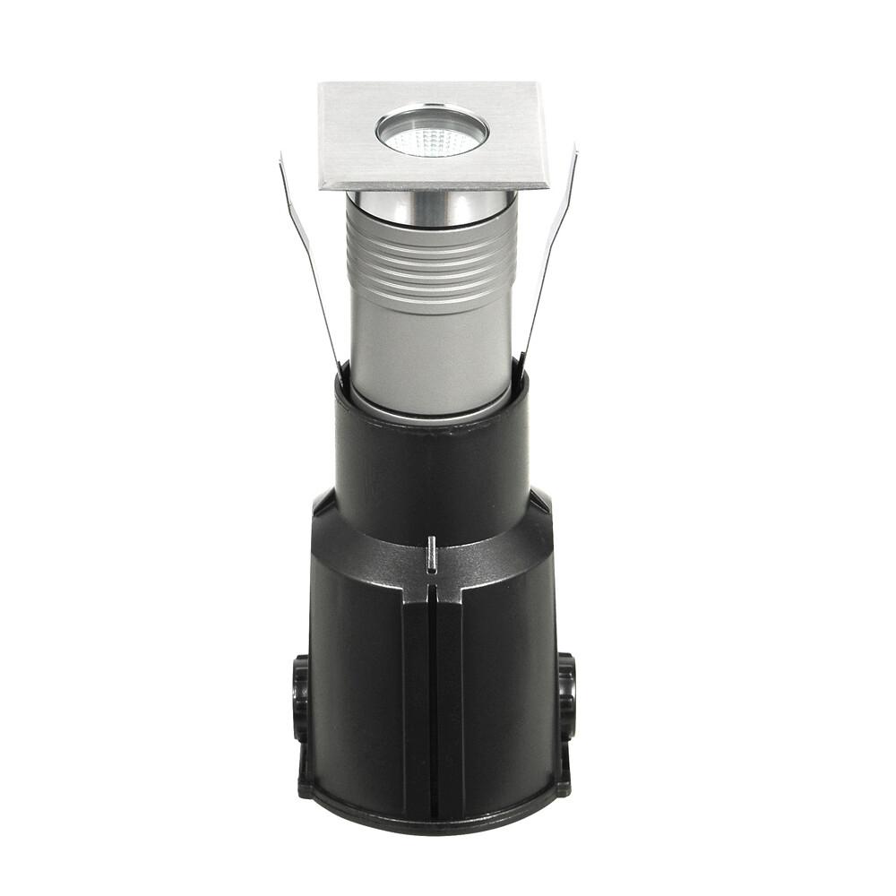 APACHE Spot encastré extérieur LED 1x6,5W/442lm Argent
