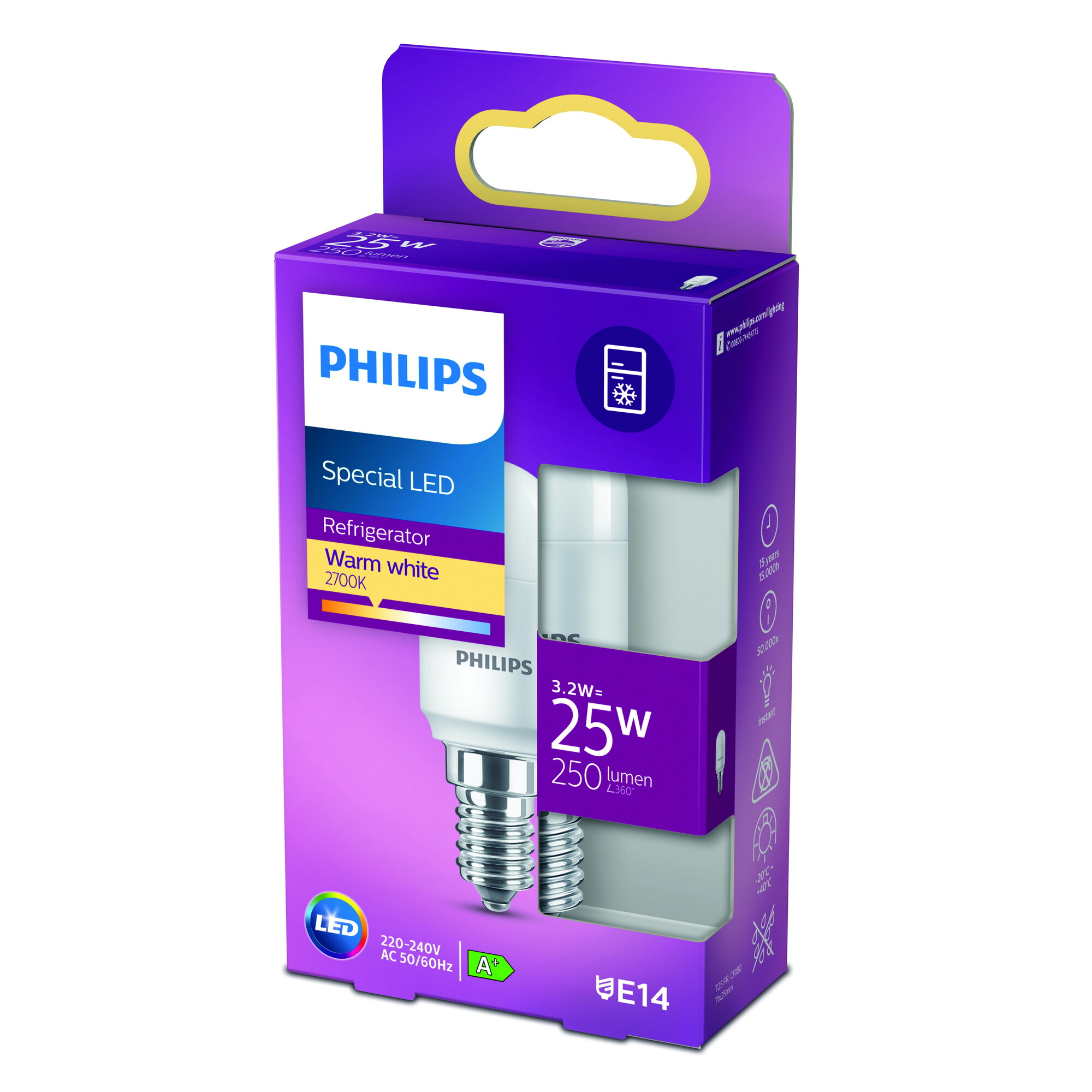 Philips LED classic E14 3,2W 250lm 2700K Ovaal Frosted