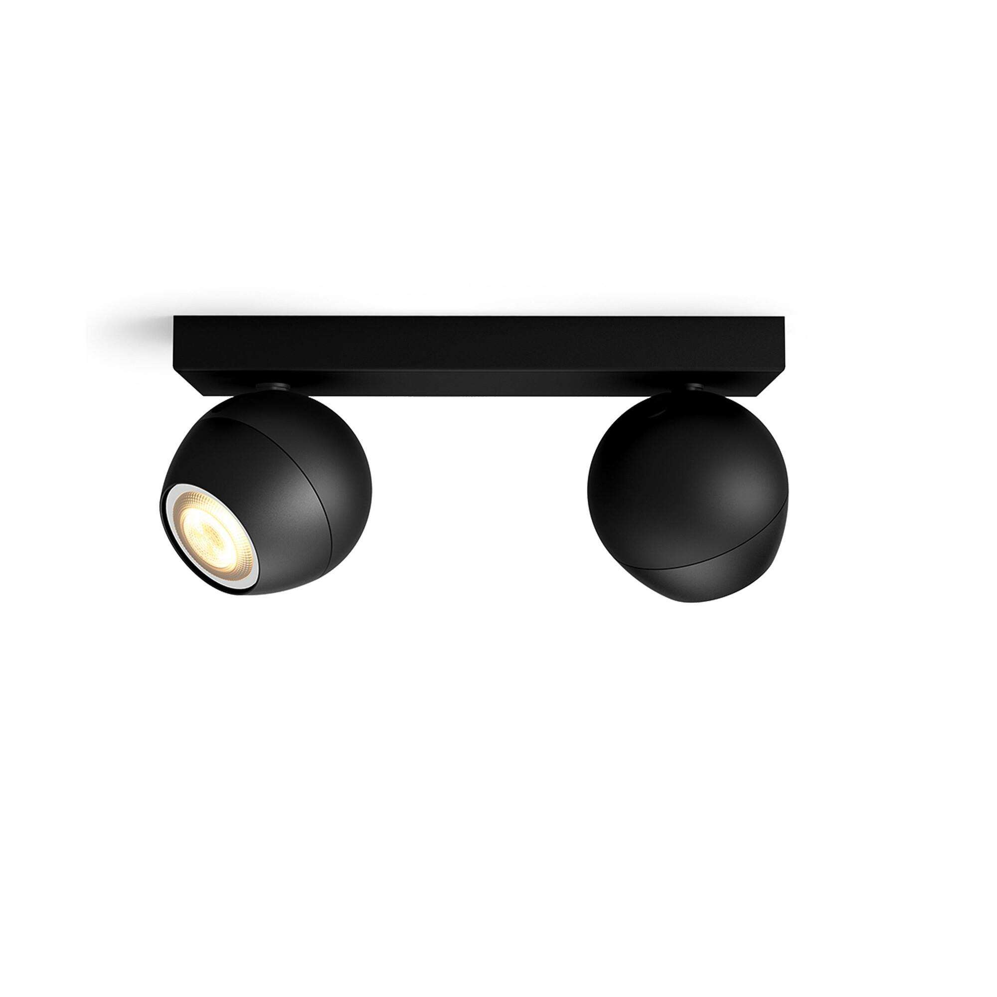Philips HUE BUCKRAM Spot apparent GU10 2x5W Noir