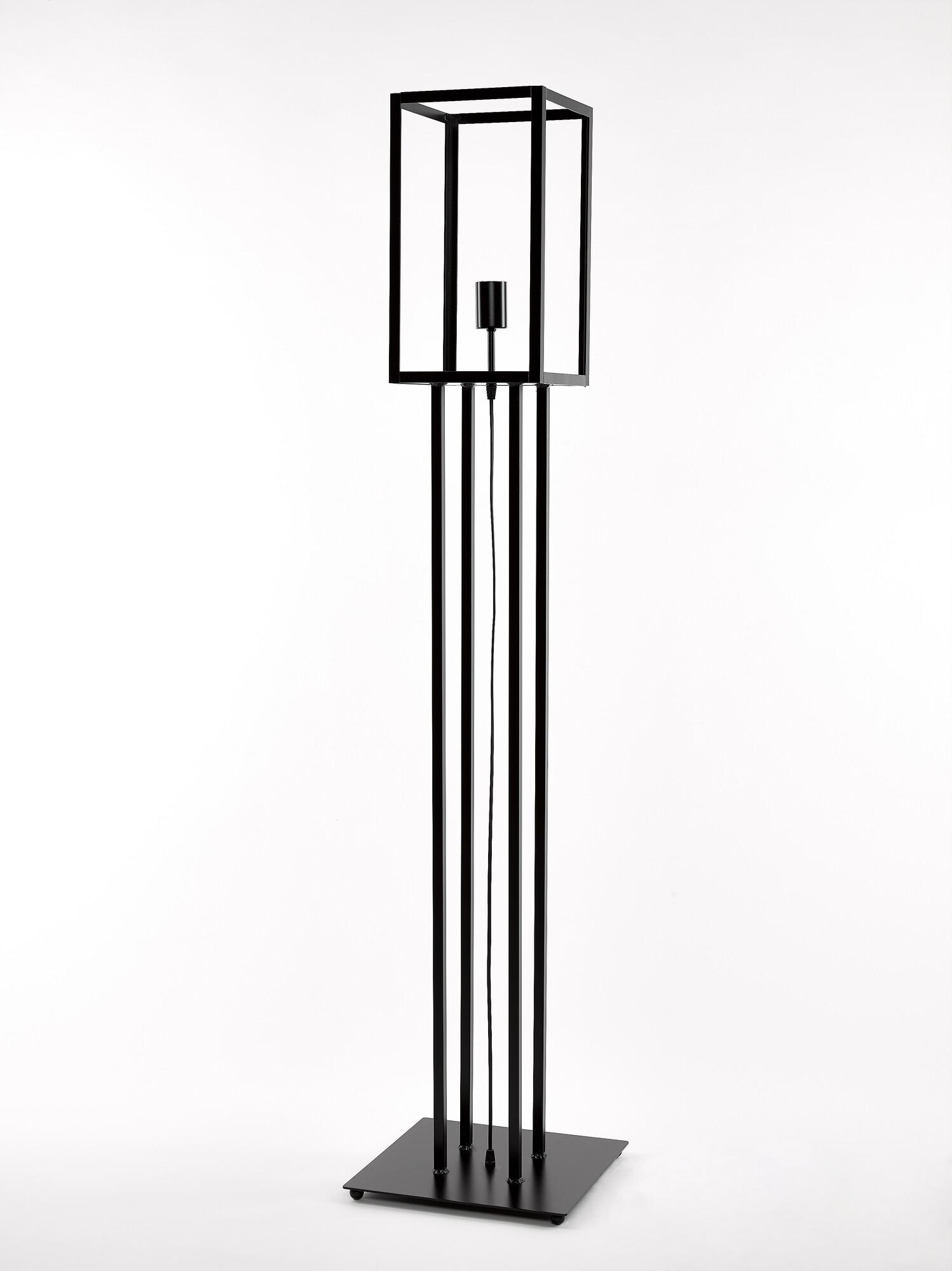 QUADRO2 Vloerlamp E27 1x Zwart