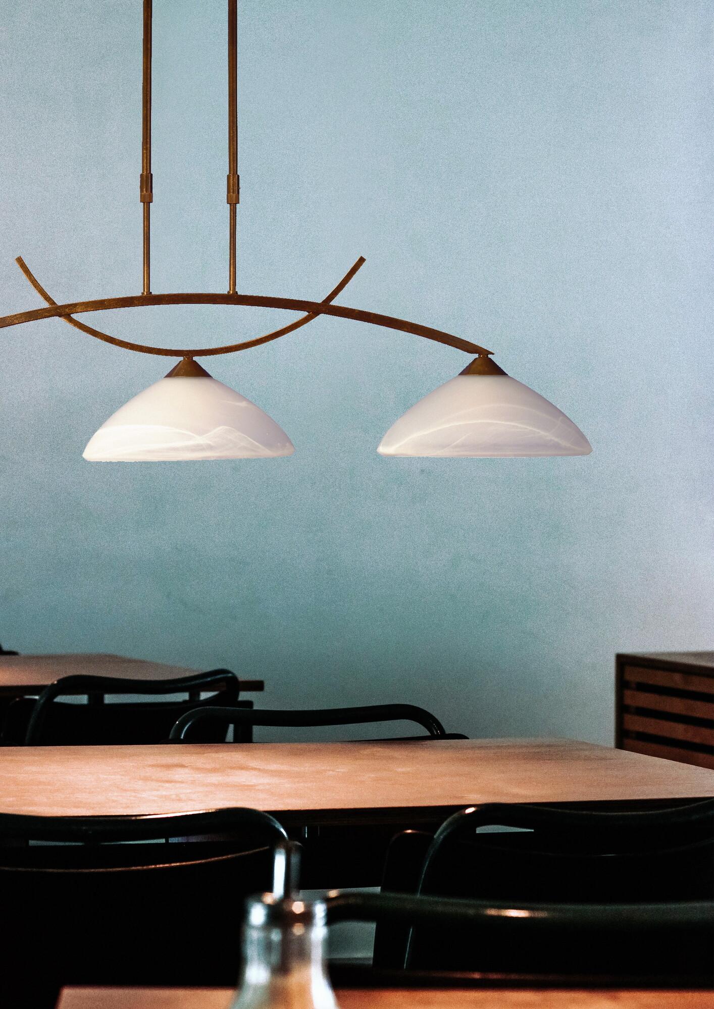 VERONA Hanglamp E27 3x Bruin
