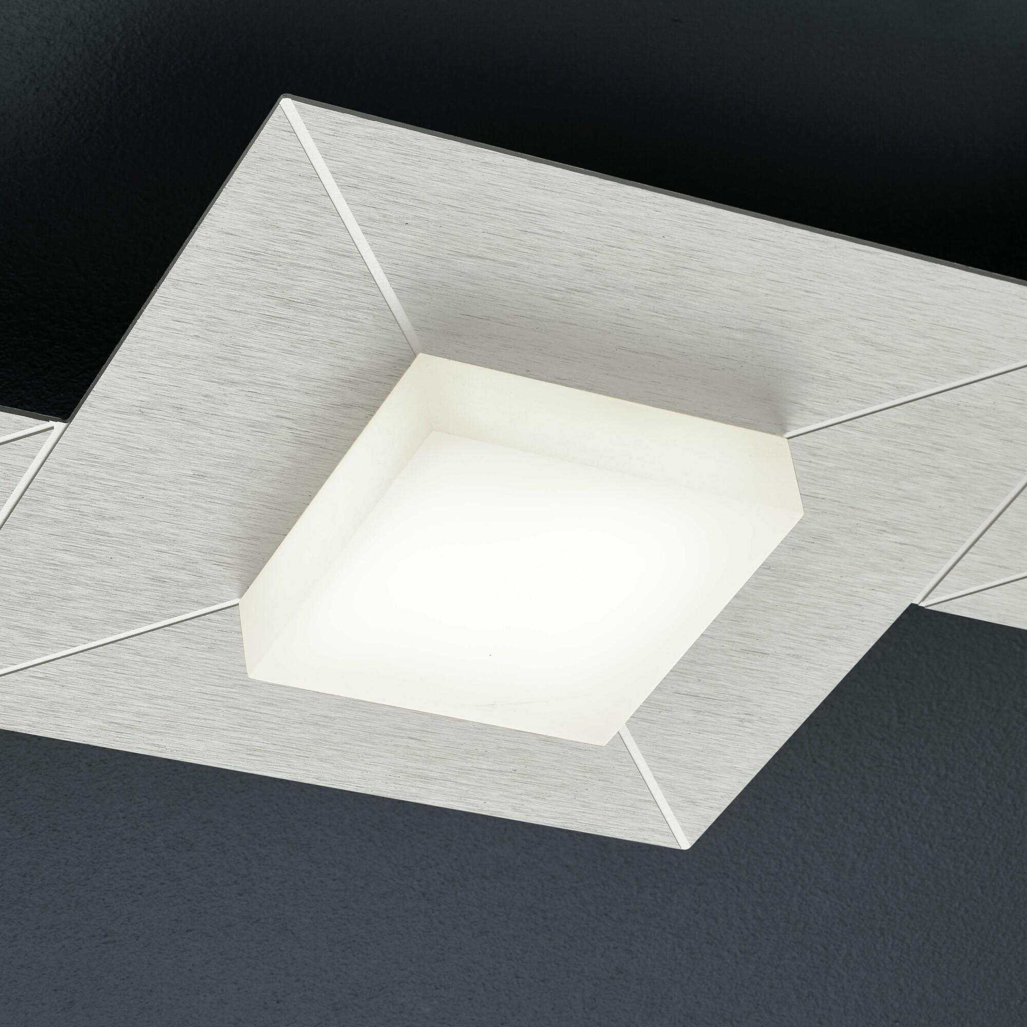 DIAMOND Plafondlamp LED 4x8W/800lm Rechthoekig Lichtgrijs