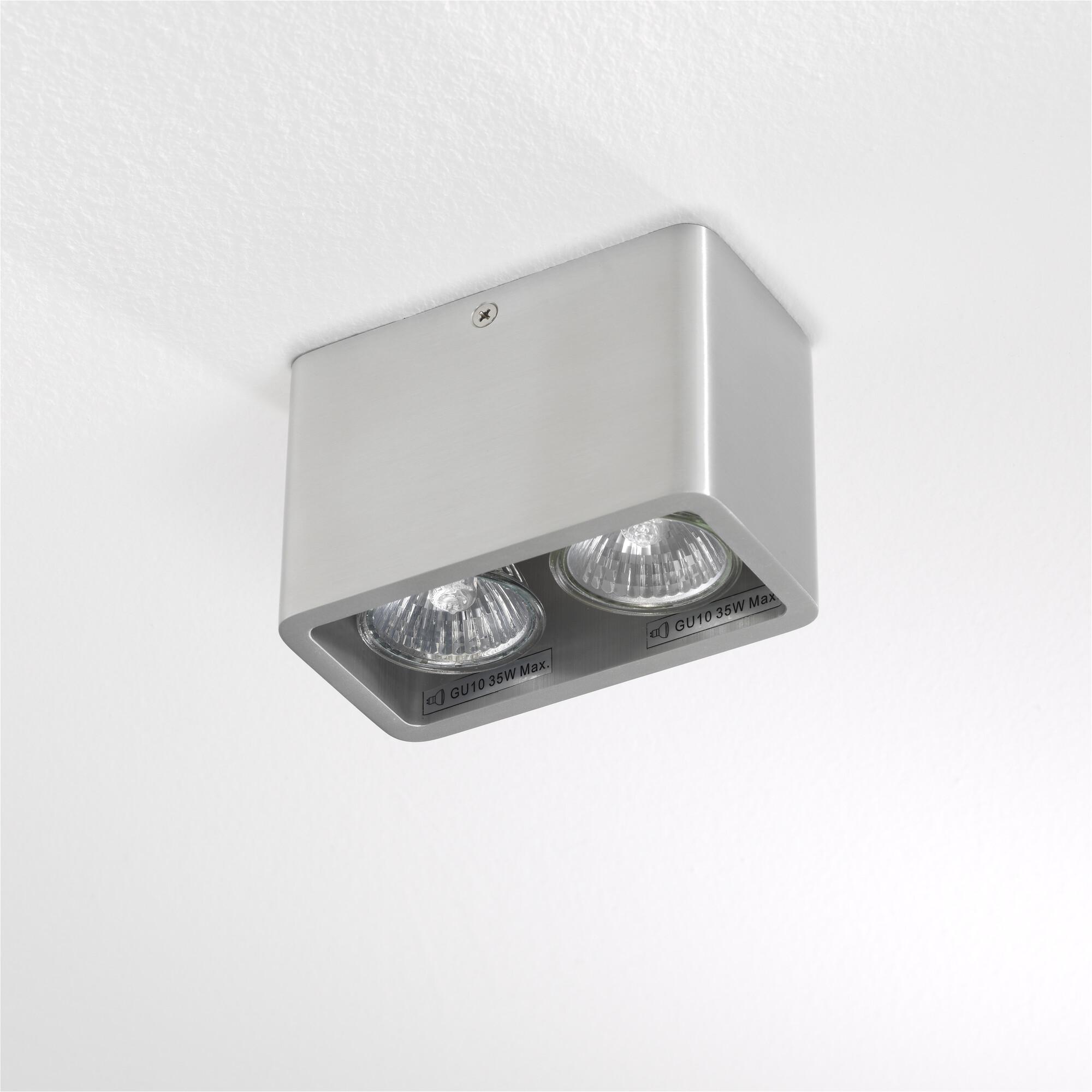 MONI Opbouwspot GU10 2x Zilver