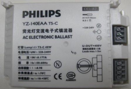 Philips Ballast Commercieel onderdeel W Wit