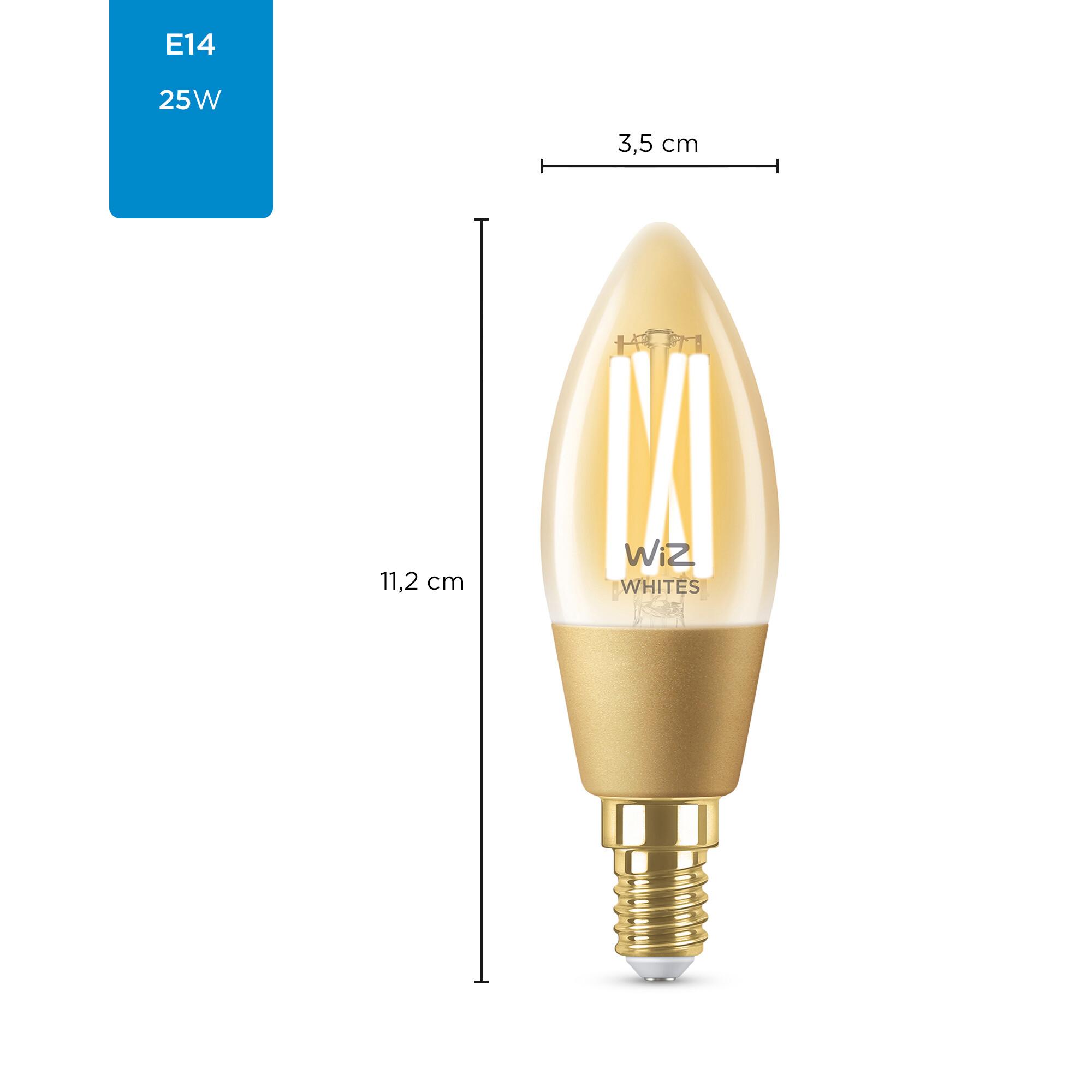 WiZ E14 25W 370lm 2000K Kaars Gouden coating