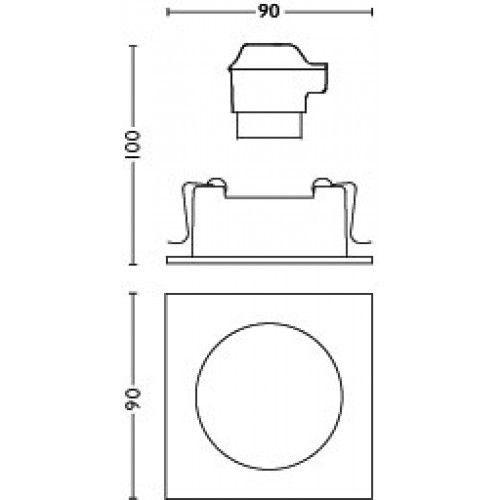 Philips HUE MILLISKIN Inbouwspot 1x6W Vierkant Wit