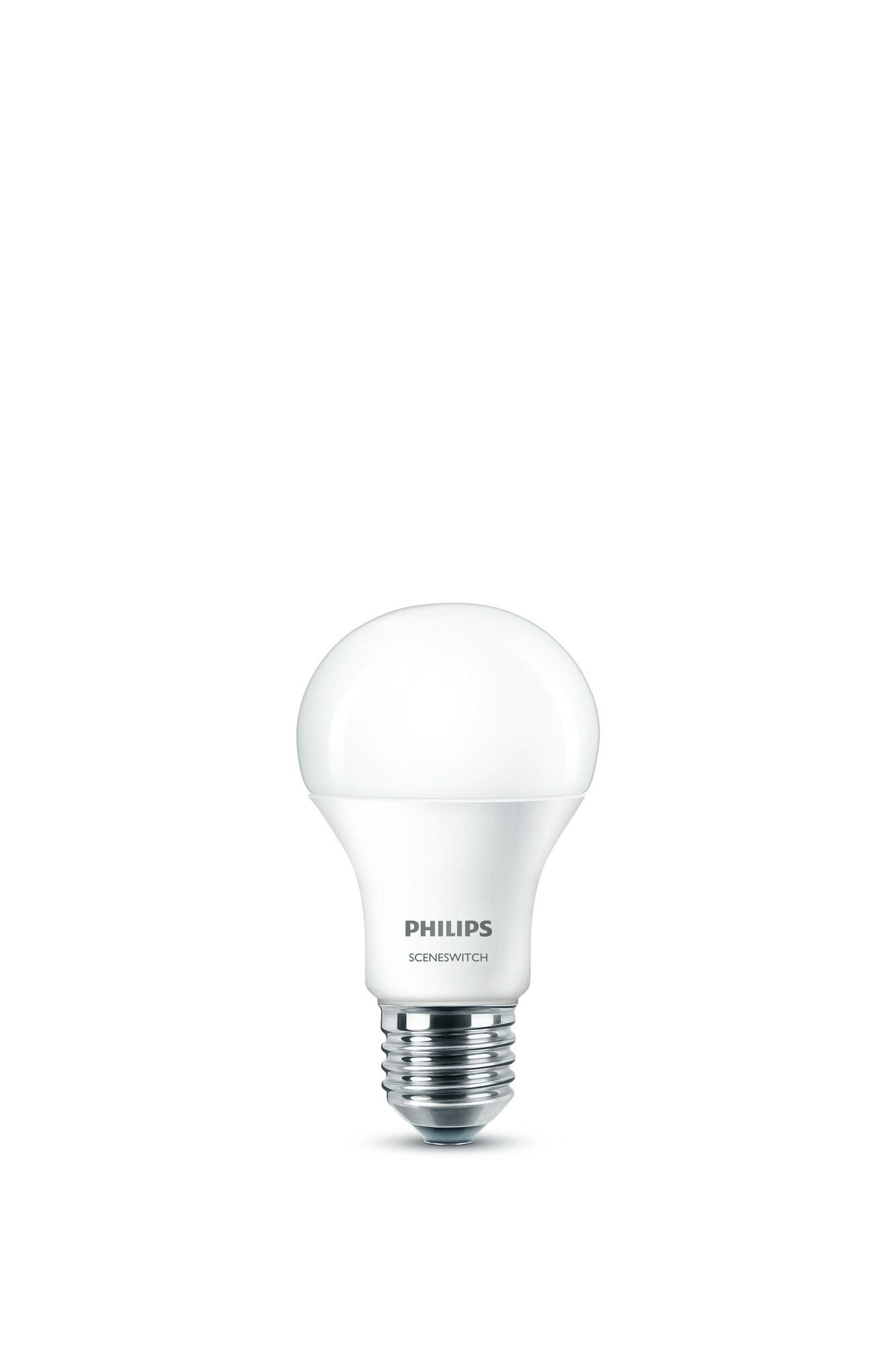 Philips LED SceneSwitch E27 8W 806lm 2700K + 4000K Ampoule Opaque