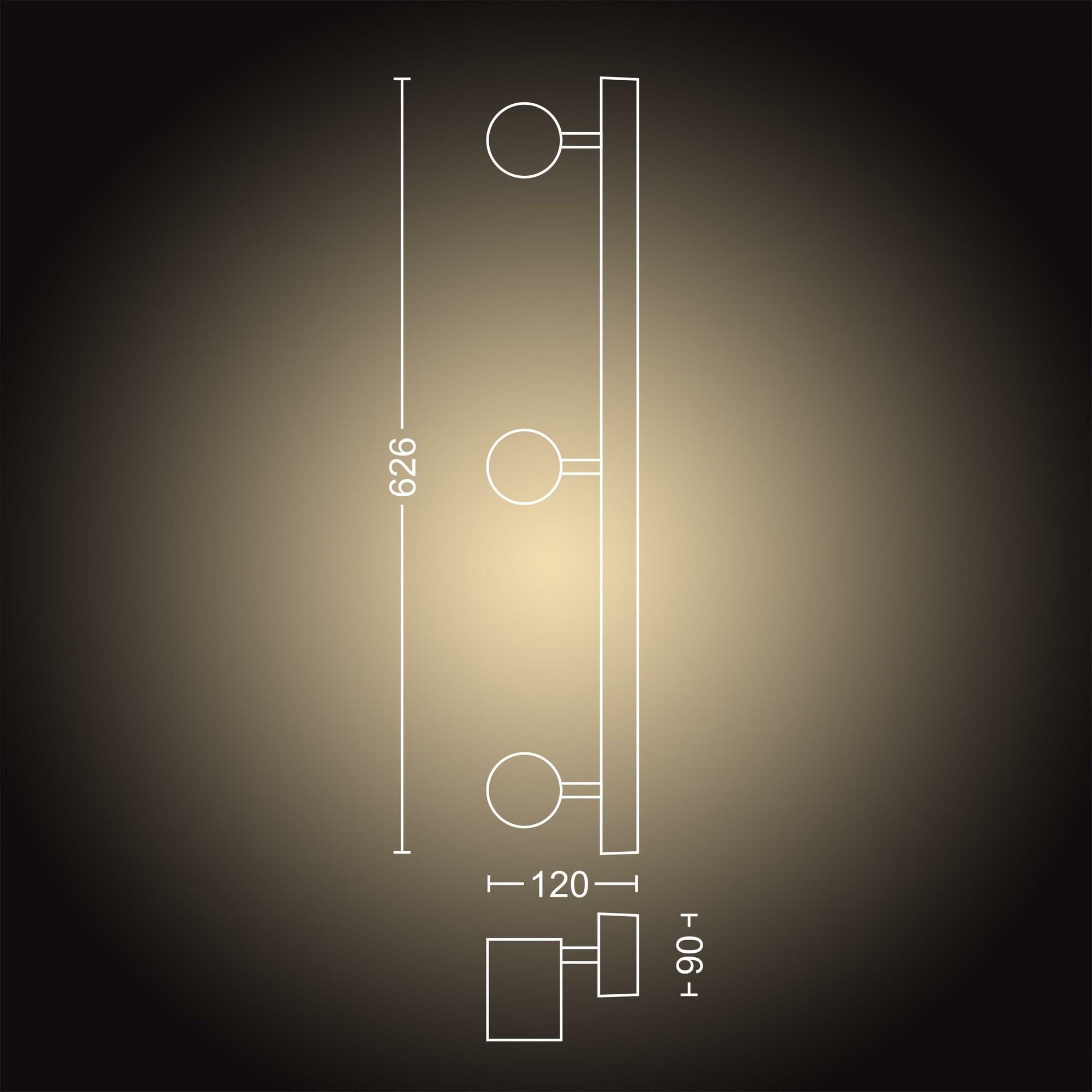 Philips HUE ADORE Opbouwspot GU10 3x5W Rechthoekig Wit