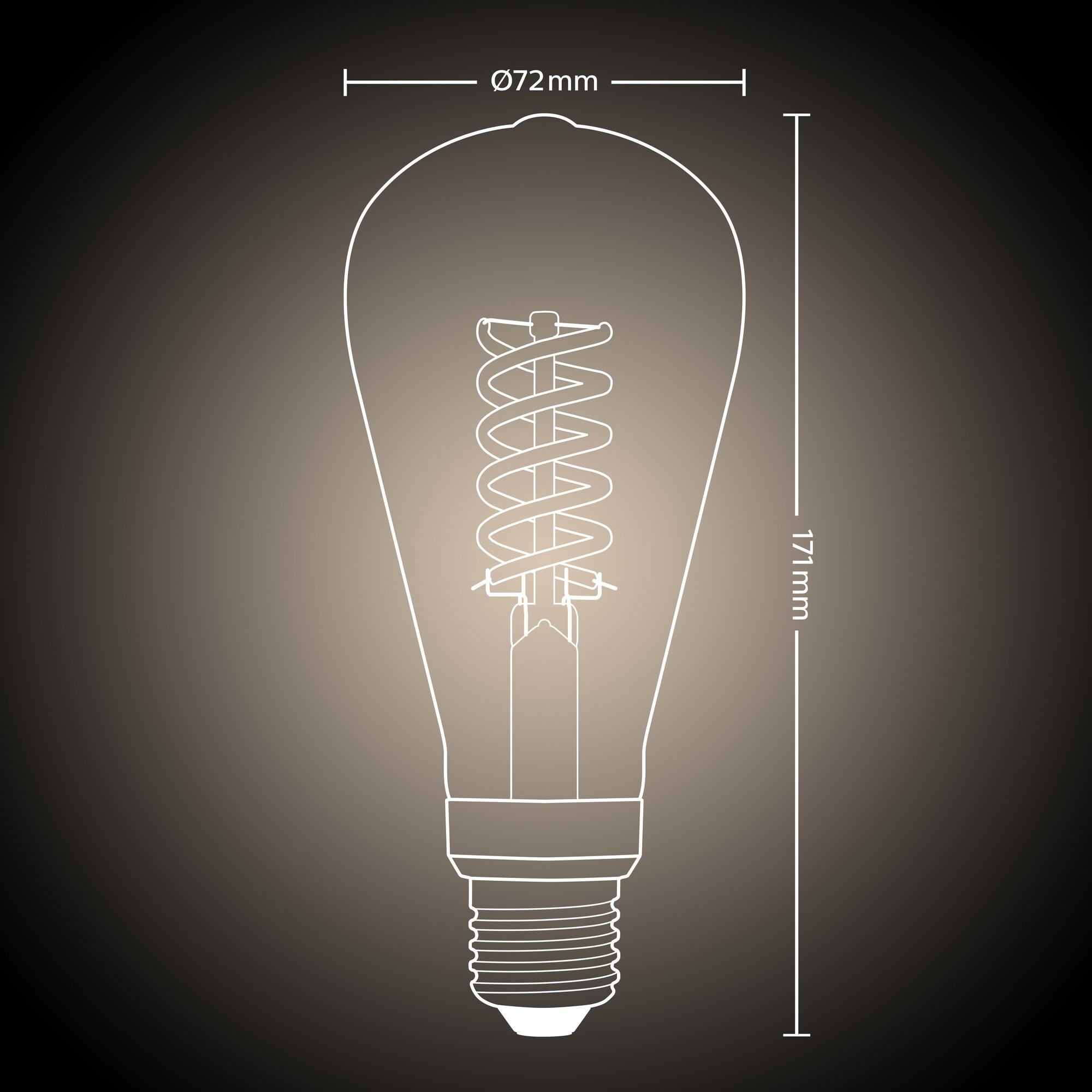Philips HUE E27 7W 550lm 2100K Edison