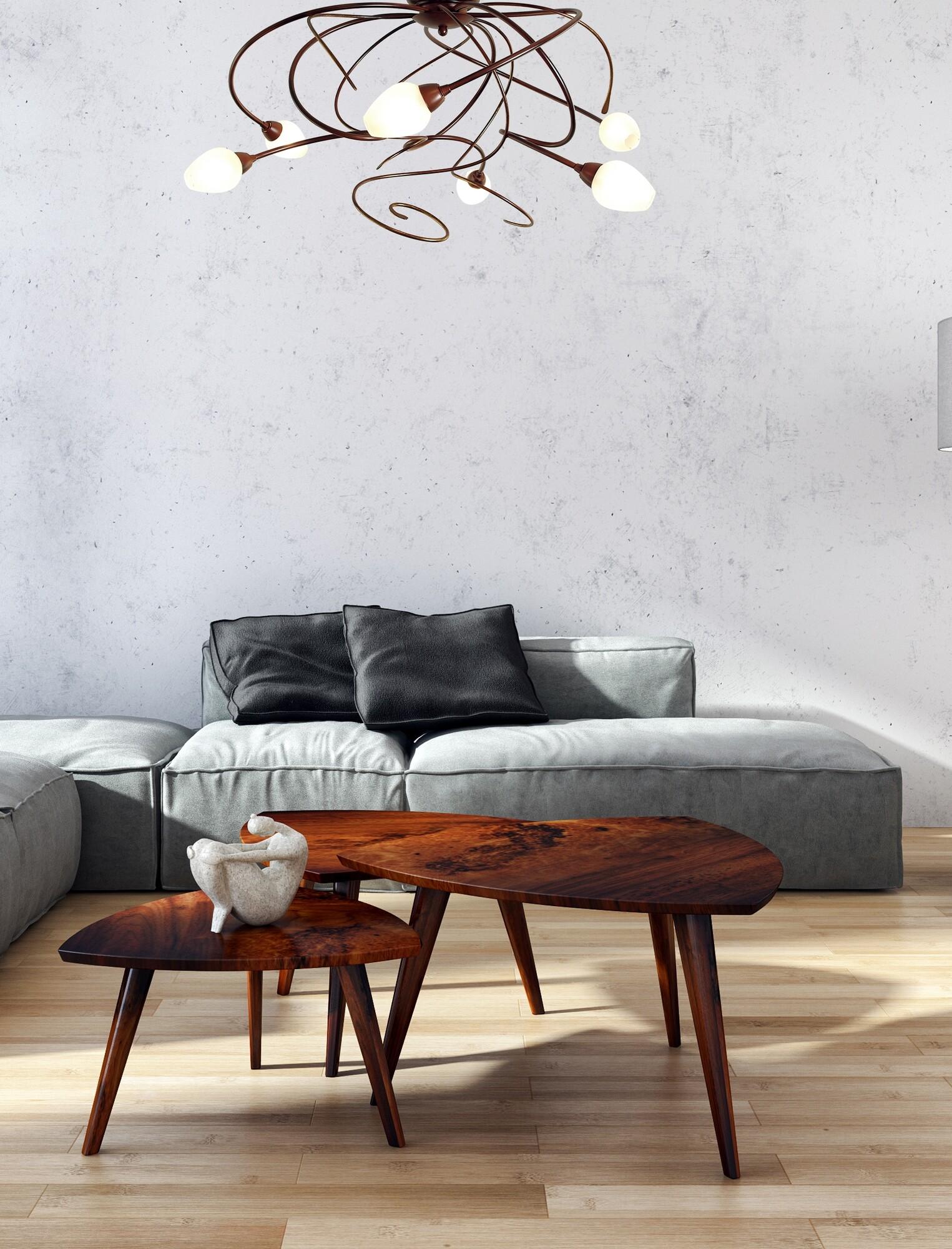 GHIRADA Plafondlamp G9 6x Bruin