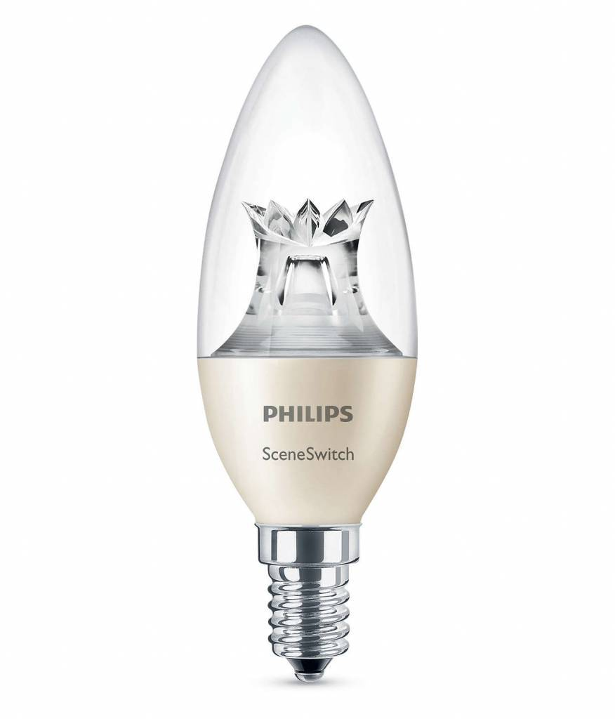 Philips SCENESWITCH E14 5,5W 0lm 2200K + 2500K + 2700K Transparent