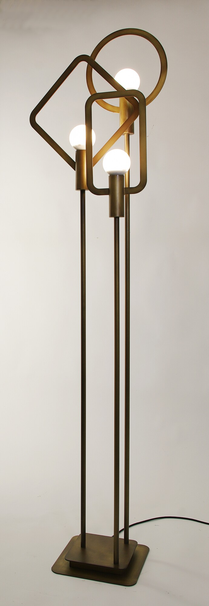 CARTESIO Vloerlamp E27 3x Koper