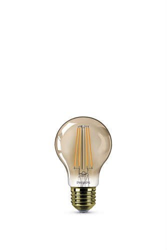 Philips FILAMENT GOLD E27 8W 630lm 2200K Lamp Gouden coating