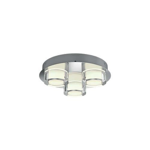 Philips RESORT Plafondlamp LED 3x5W/500lm Rond Lichtgrijs