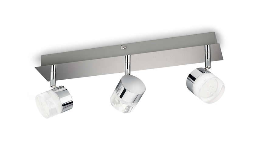 Philips FLOAT Opbouwspot LED 3x5W/400lm Zilver