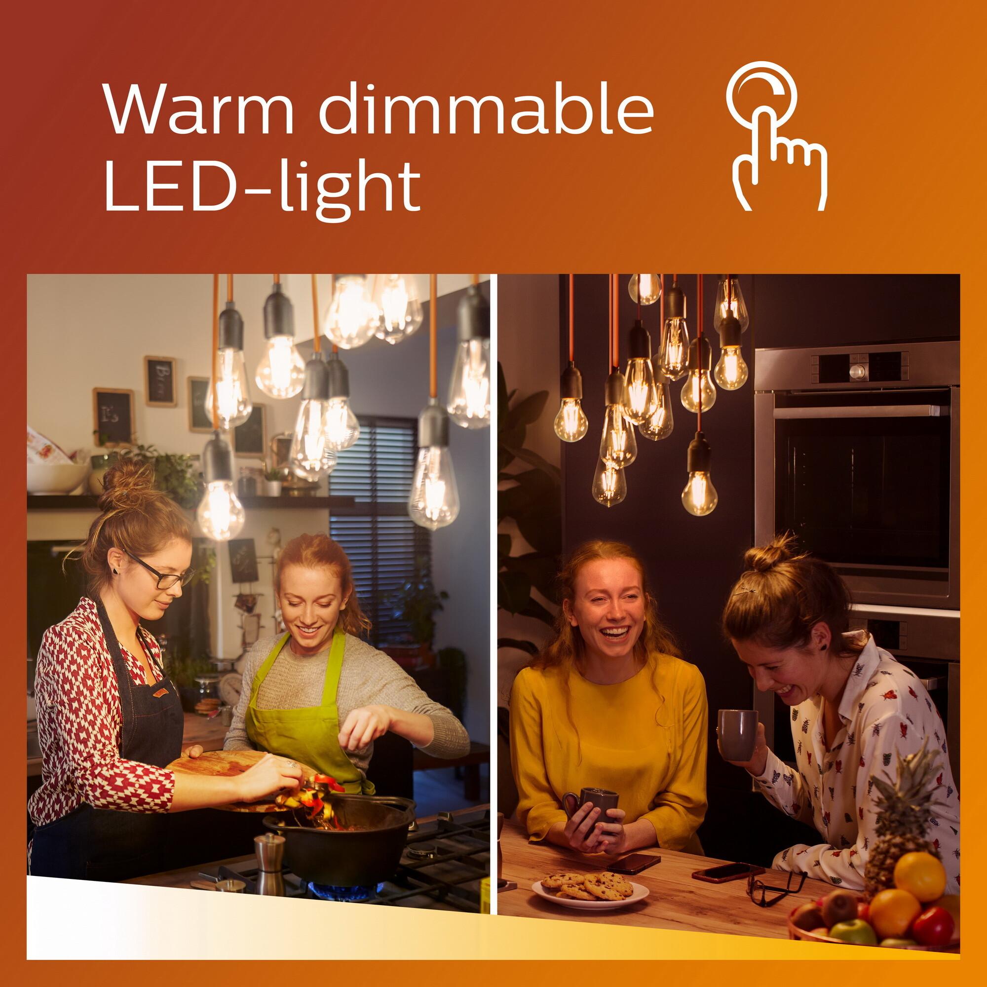Philips LED classic E27 7W 806lm 2200K-2700K Lamp Transparant