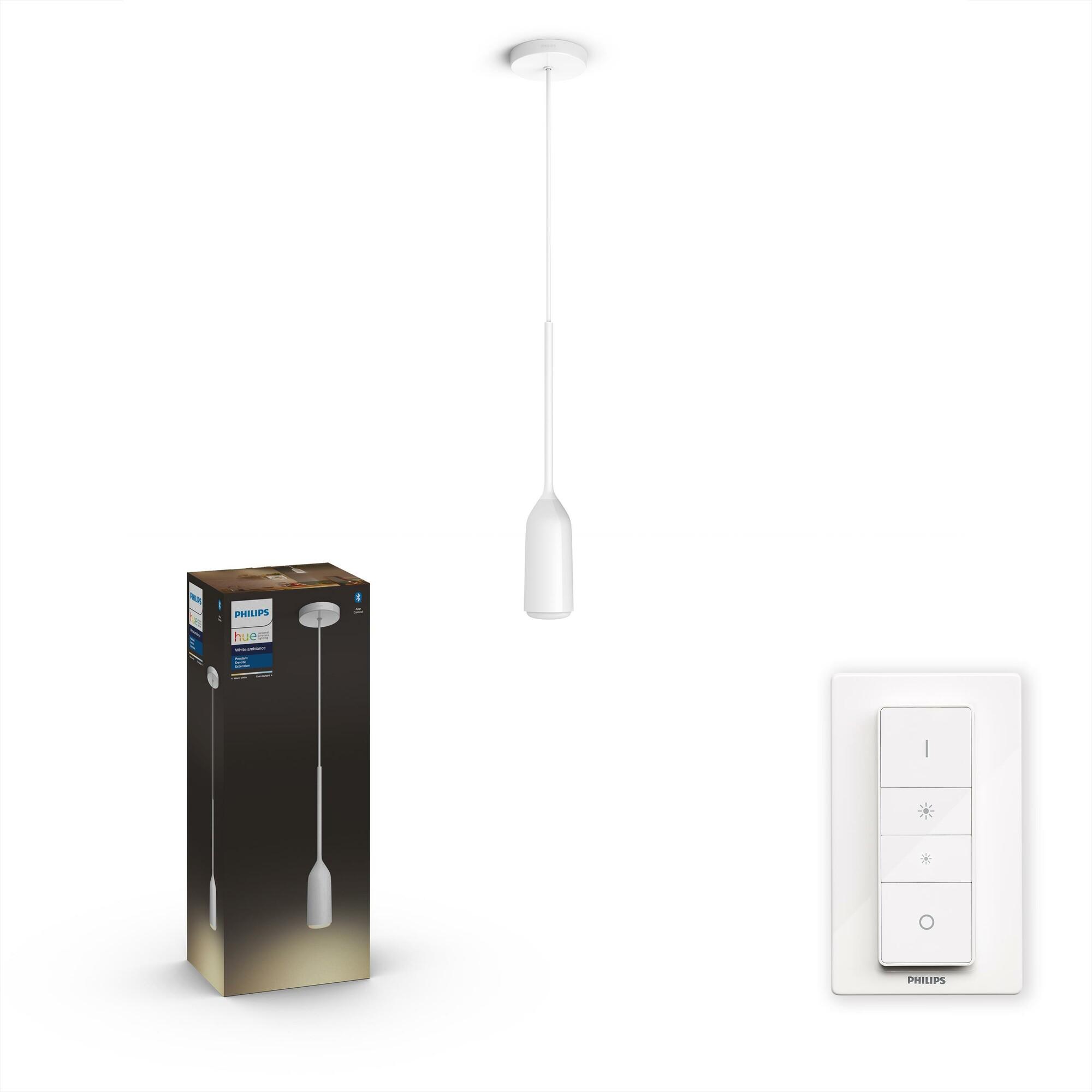 Philips HUE DEVOTE Hanglamp E27 1x8,5W Wit