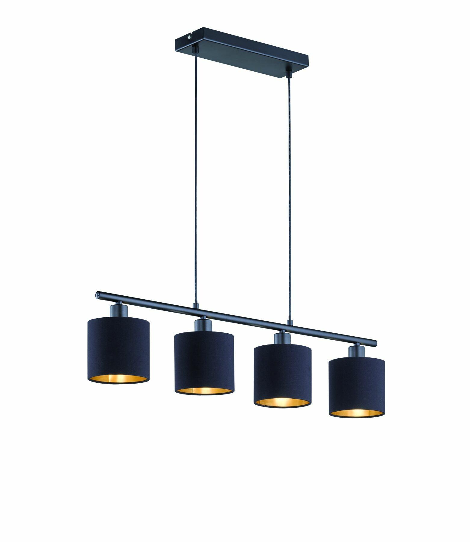 TOMMY Hanglamp E14 4x Zwart
