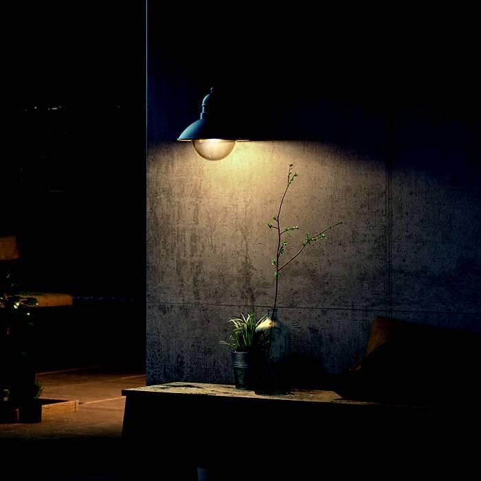 Philips HOVERFLY Wandlamp E27 1x Zwart