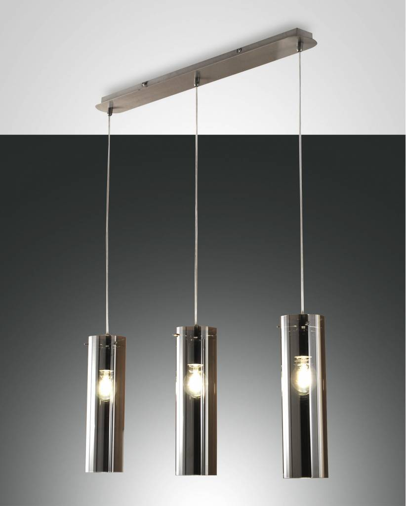 SINTESI Hanglamp E27 3x Lichtgrijs