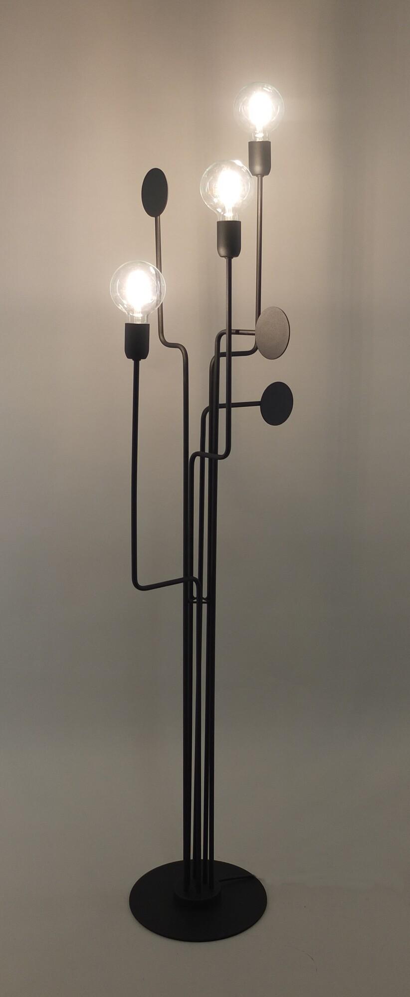 CIRCUIT Vloerlamp E27 3x Zwart