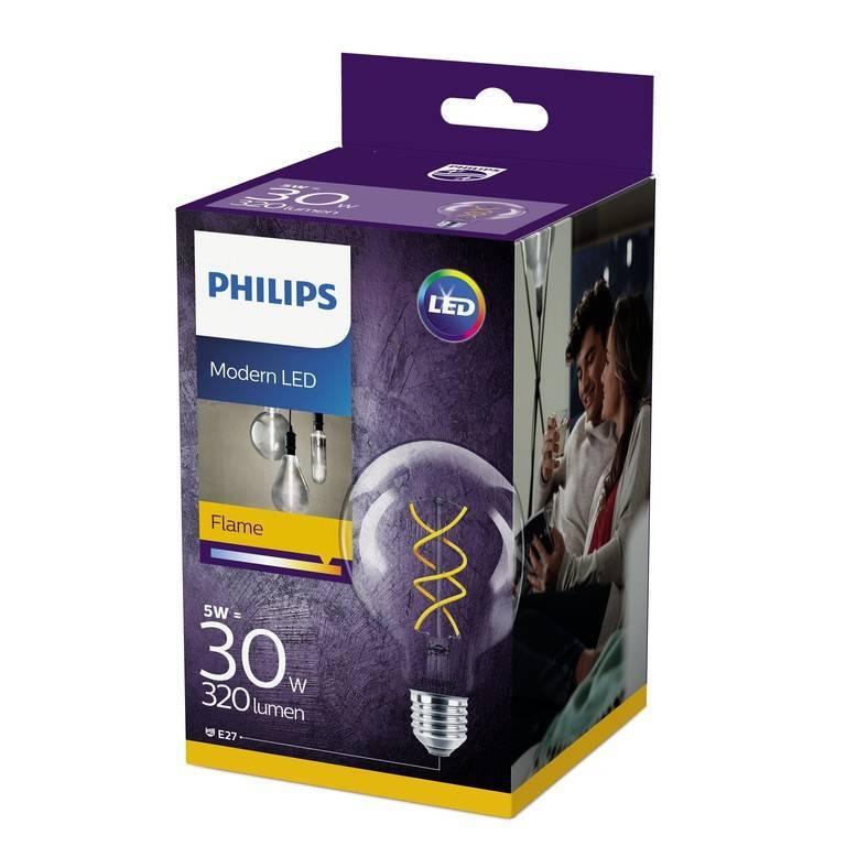 Philips LED classic E27 5W 320lm 2200K Lamp Transparant