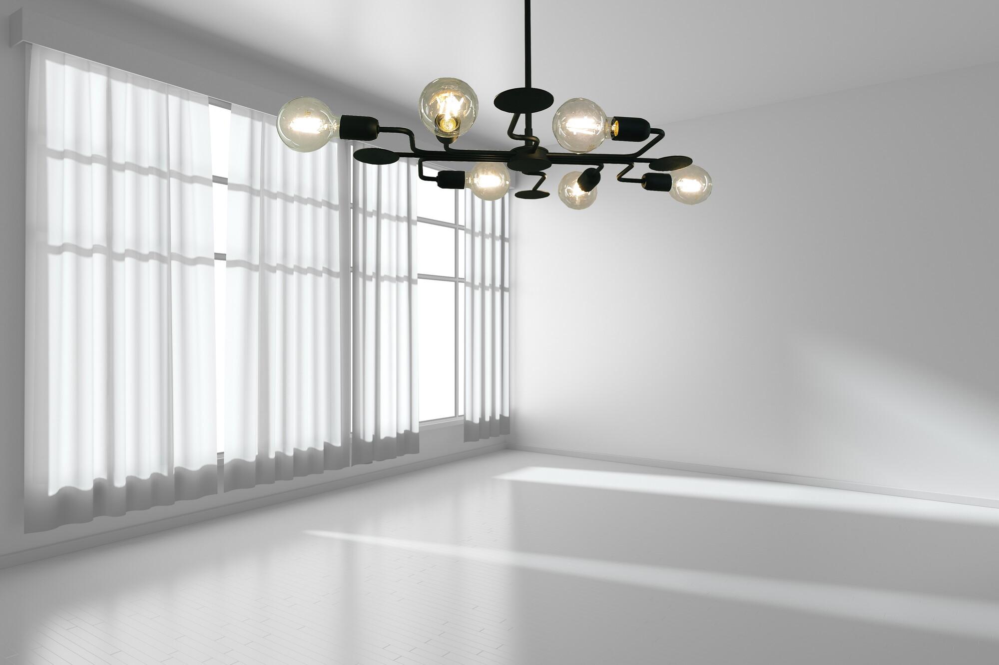 CIRCUIT Hanglamp E27 6x Zwart