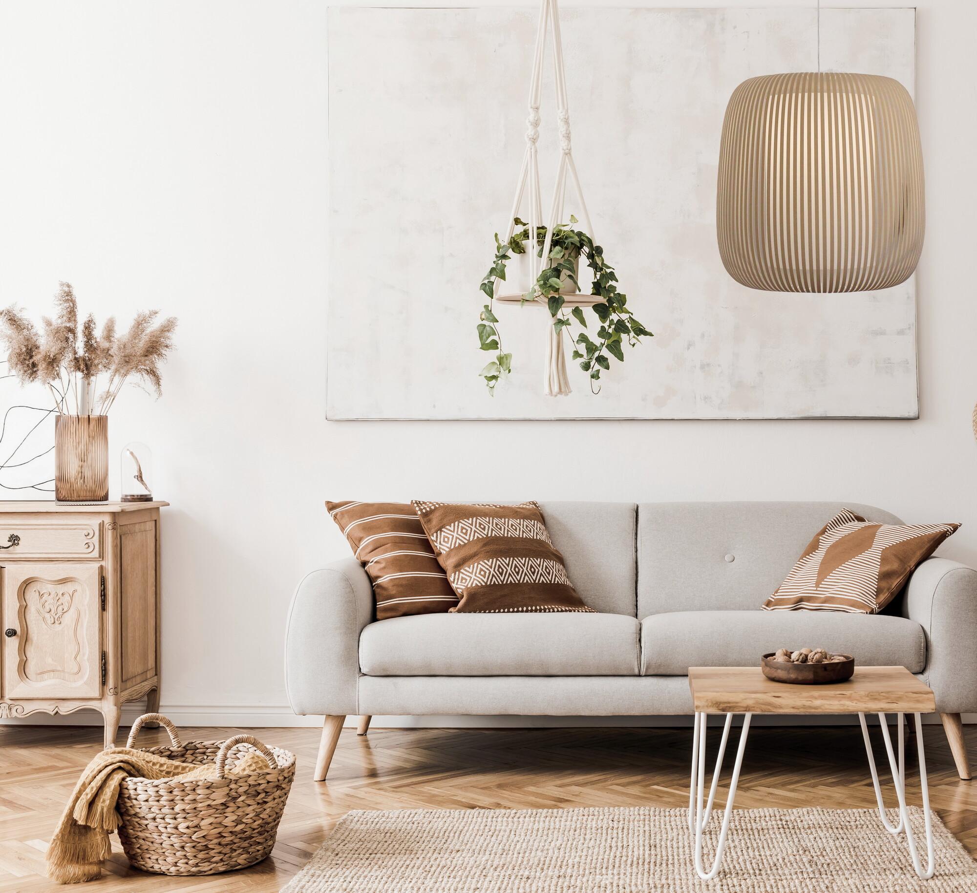 GRACE Hanglamp E27 1x Bruin