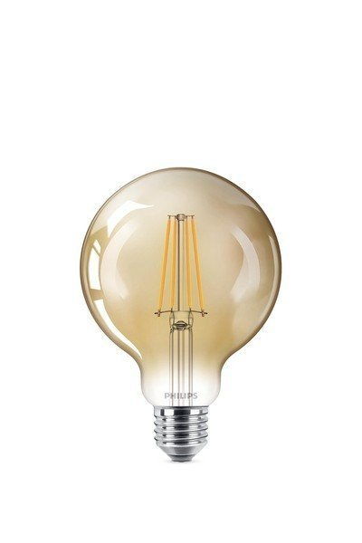 Philips LED E27 8W 630lm 2200K Lamp Gouden coating