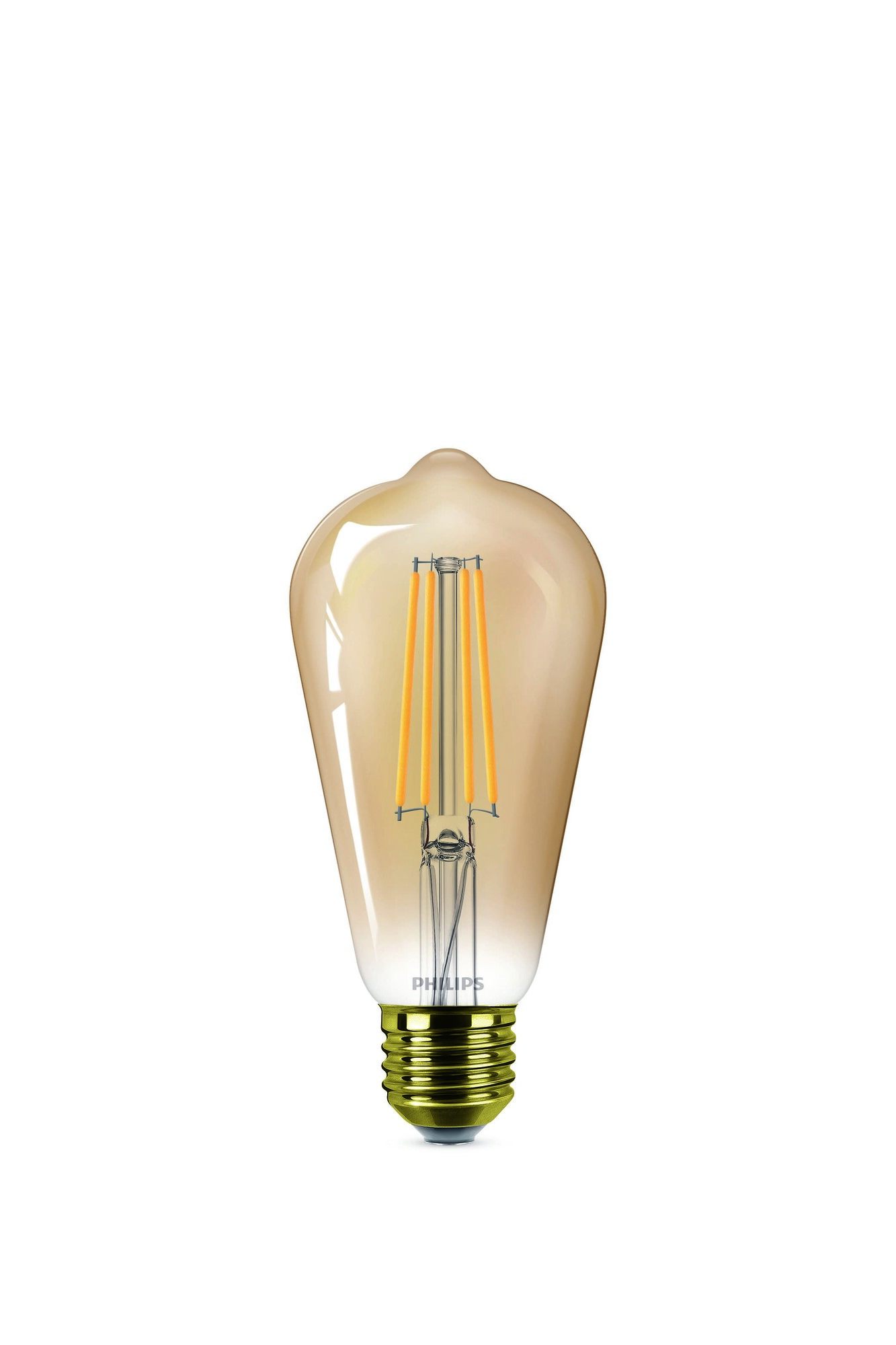 Philips LED classic E27 7,2W 650lm 2200K Edison Gouden coating
