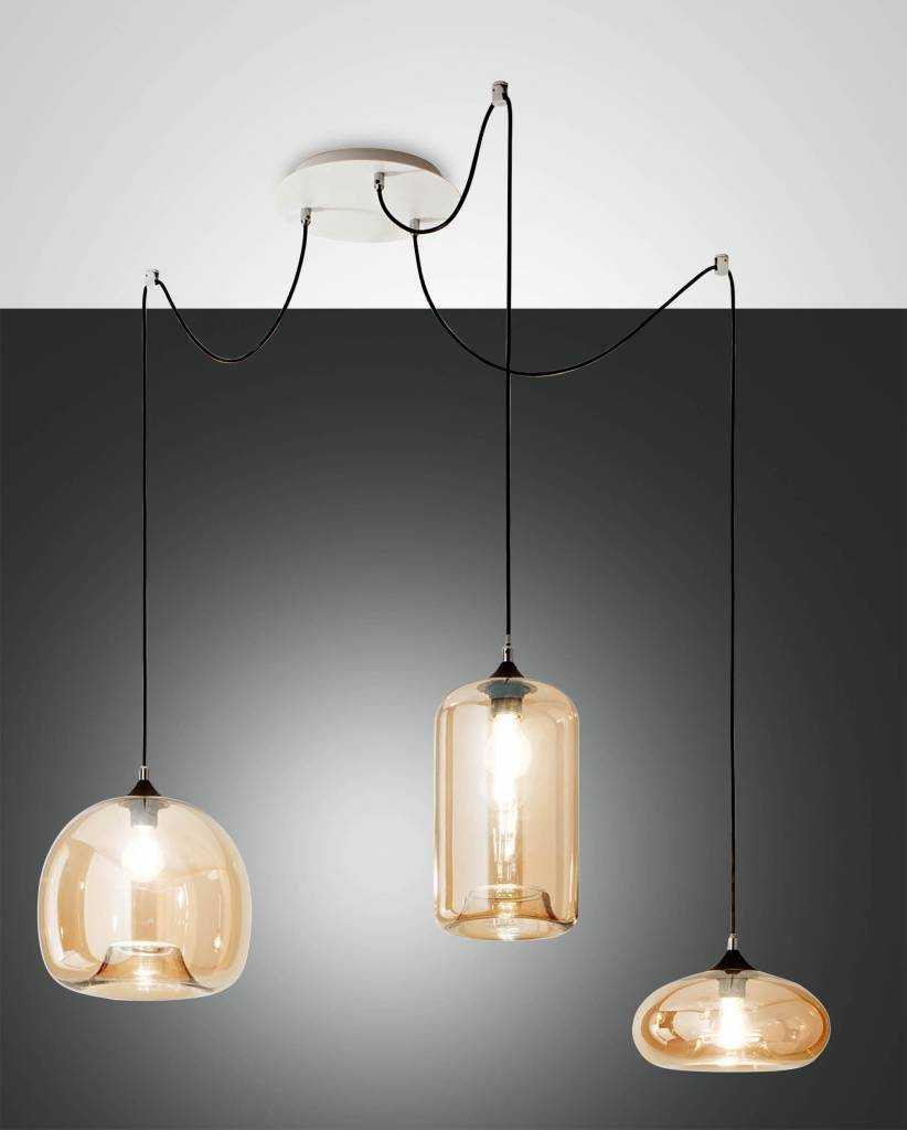 FIONA Hanglamp E27 3x Goud