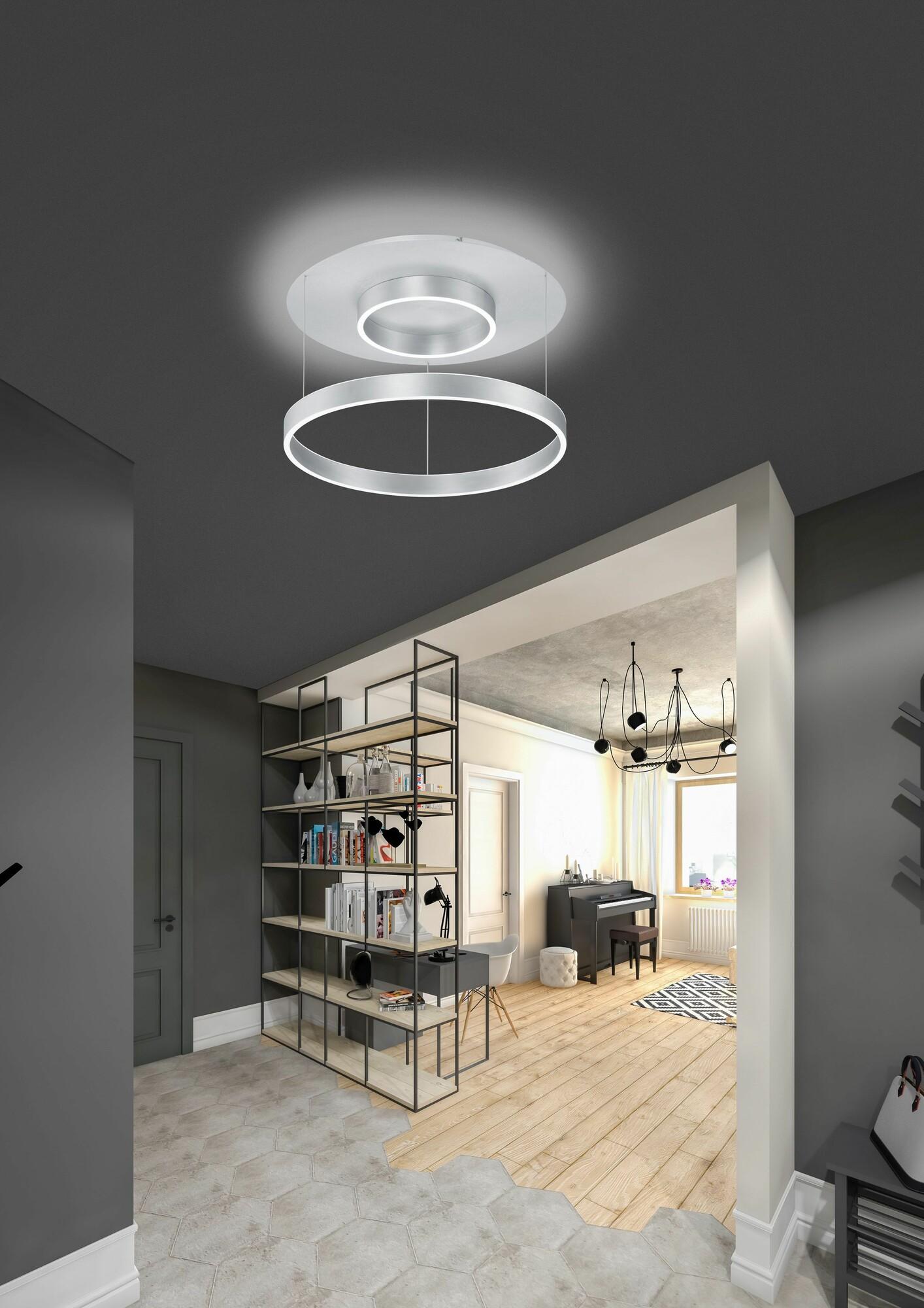 TELDA Plafondlamp LED 1x80W/7500lm Zilver