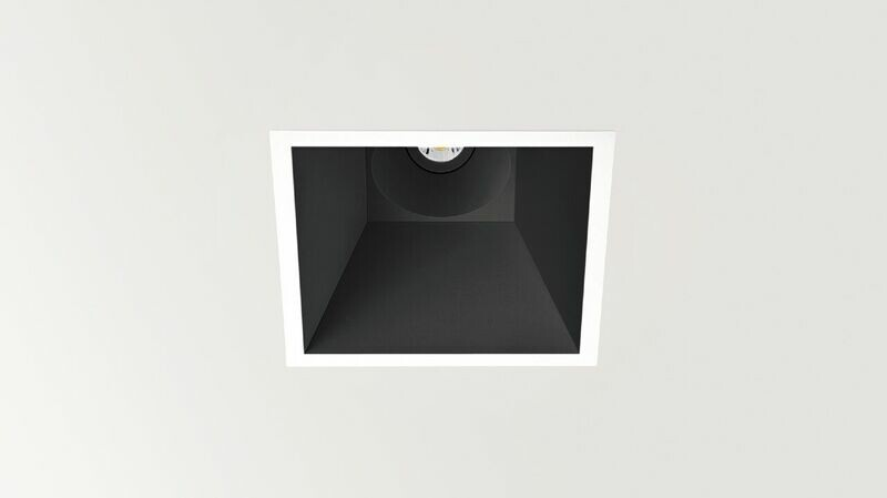 SWAP Inbouwspot LED 1x7W/910lm Vierkant Zwart