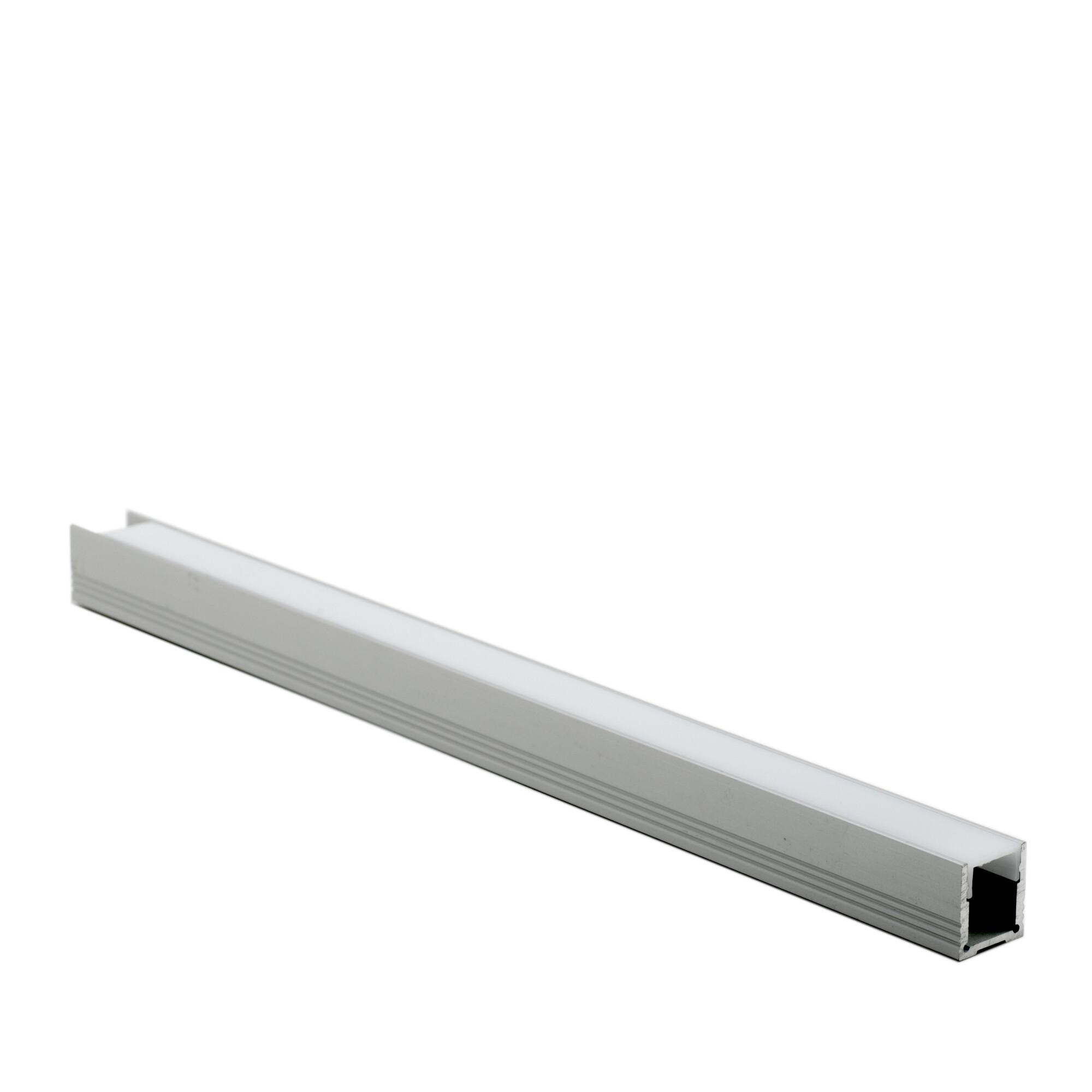 Opbouwprofiel voor LED Lichtgrijs