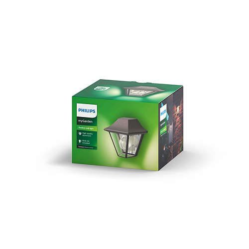 Philips CURASSOW Wandlamp E27 1x Bruin