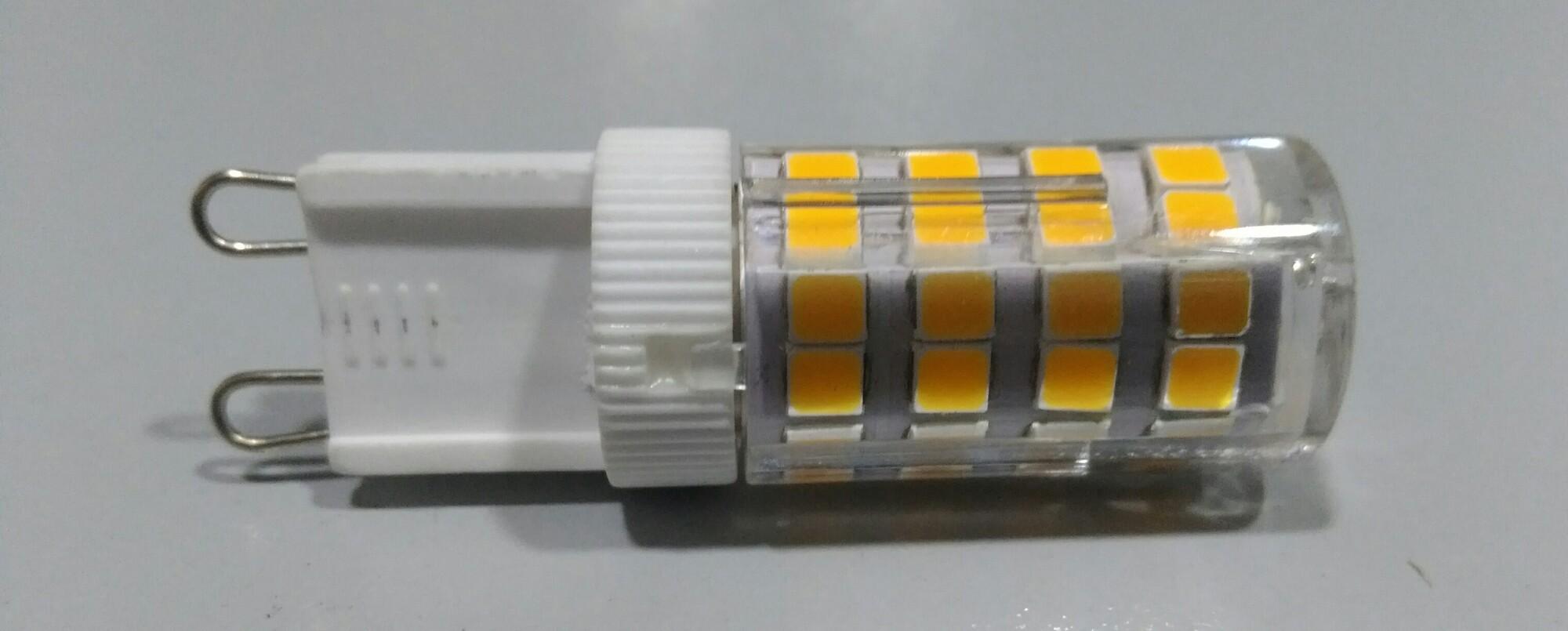 LED G9 4W 350lm 3000K Capsule Transparant
