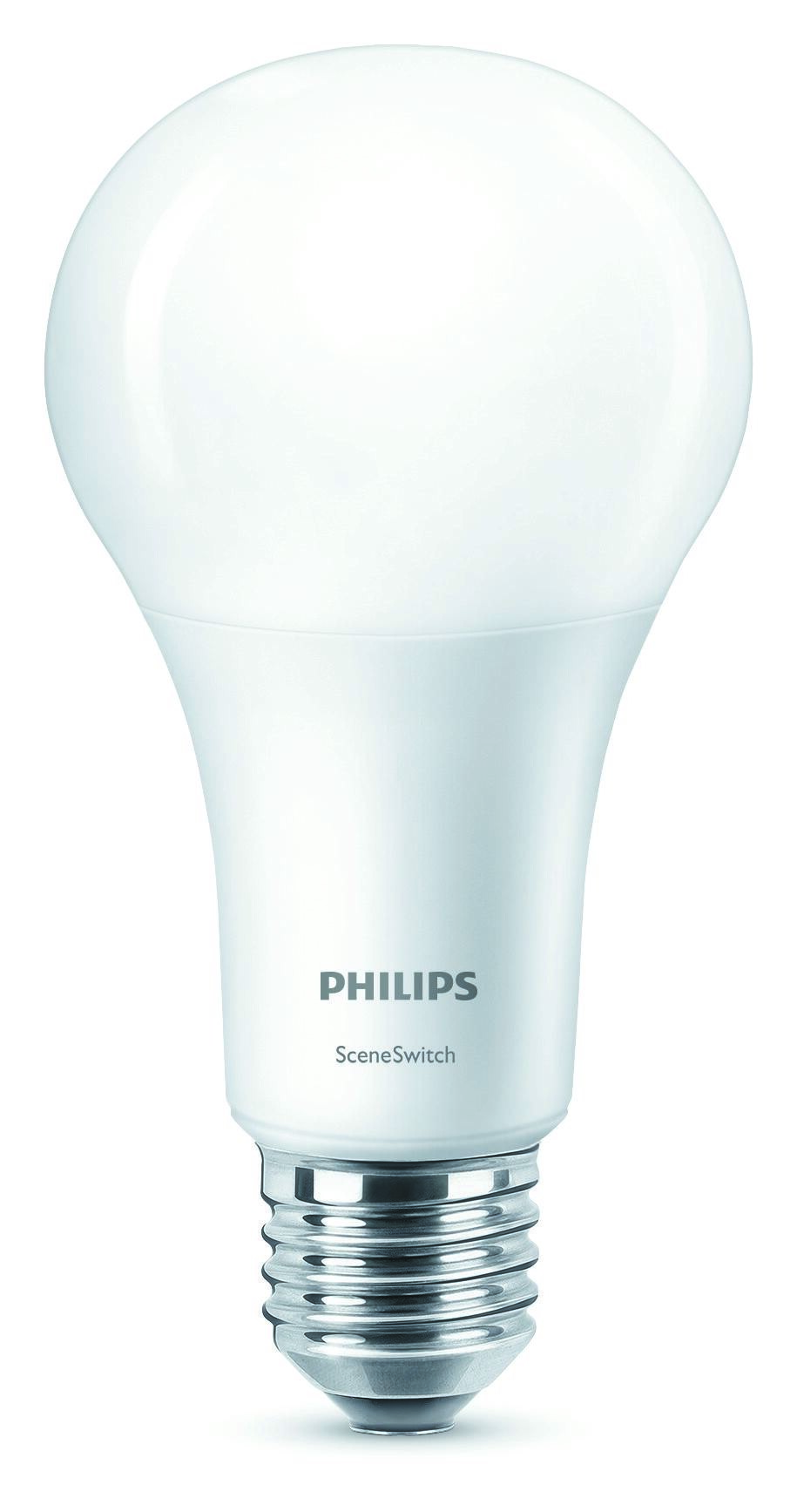 Philips LED SceneSwitch E27 14W 1521lm 2200K + 2500K + 2700K Ampoule Opaque
