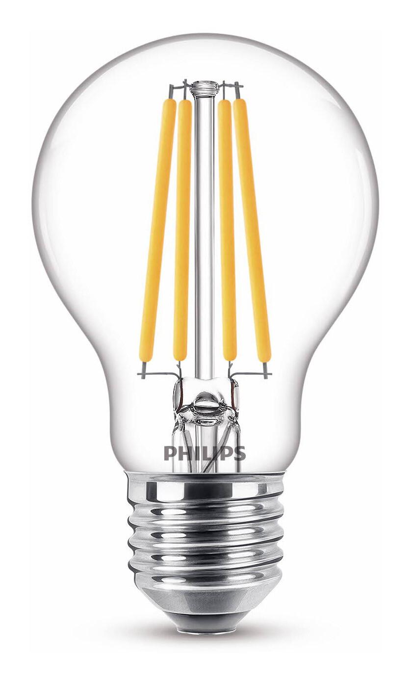 Philips LED classic E27 11,5W 1521lm 2200K-2700K Lamp Transparant