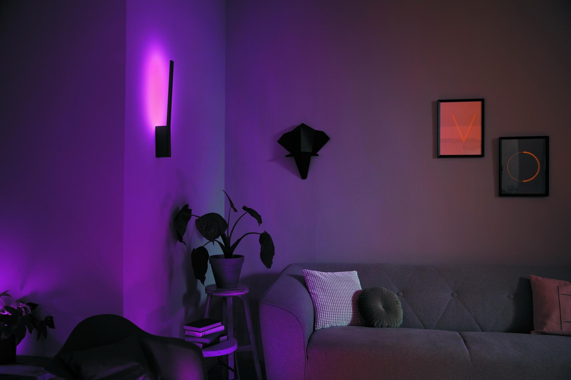 Philips HUE LIANE Wandlamp LED 1x12W/900lm Zwart